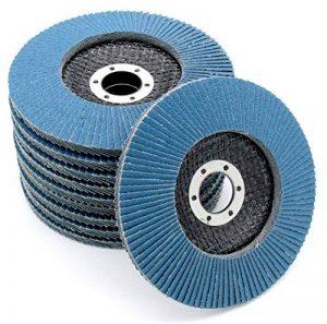 Lot de 10disques de ponçage à lamelles en inox, disques de ponçage à stries, 125mm, grain 60 de la marque FD-Workstuff image 0 produit