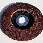 Lot de 10 à lamelles standard et abrasives pour meuleuse d'angle à bois et à métal, diamètre 125 mm x 22,23 mm, grain 80, marron de la marque TD-Warenhandel image 1 produit