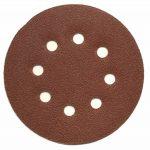 Lot de 100 disques abrasifs Ø 125 mm - Grain 80 avec fixation en Nylon pour ponceuse excentrique de la marque FD-Workstuff image 1 produit