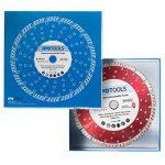 Lot de 2 disques à tronçonner diamantés-Turbo-Pour béton, béton cellulaire et pierre-Segment de 10 mm de la marque IPOTOOLS image 2 produit