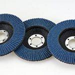 Lot de 20 disques à lamelles en inox – Ø 125mm – Lot de 5 grains mélangés 40 / 60 / 80 / 120 – bleu de la marque S&S-Shop image 2 produit