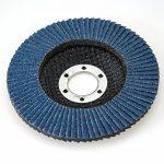 Lot de 20 disques à lamelles en inox – Ø 125mm – Lot de 5 grains mélangés 40 / 60 / 80 / 120 – bleu de la marque S&S-Shop image 3 produit