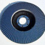 Lot de 20 disques à lamelles en inox – Ø 125mm – Lot de 5 grains mélangés 40 / 60 / 80 / 120 – bleu de la marque S&S-Shop image 4 produit
