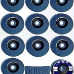 Lot de 20 disques à lamelles en inox – Ø 125mm – Lot de 5 grains mélangés 40/60/80/120 – bleu de la marque TD-Warenhandel image 1 produit