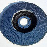 Lot de 20 disques à lamelles en inox – Ø 125mm – Lot de 5 grains mélangés 40/60/80/120 – bleu de la marque TD-Warenhandel image 4 produit