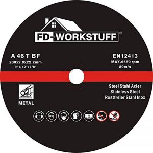 Lot de 25 disques à tronçonner 230 x 2,0 mm I disques flexibles I Inox I pour meuleuse d'angle de la marque FD-Workstuff image 0 produit