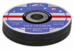 Lot de 30 disques en acier INOX pour scie circulaire 115 x 1.0 mm de la marque FD-Workstuff image 0 produit