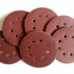 Lot de 50 disques abrasifs excentriques auto-agrippants - Grain 80 - Pour meuleuses d'angle - Diamètre : 125 mm - 8 trous - Flex corindon de la marque TD-Warenhandel image 2 produit