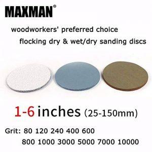 Maslin Lot de 30 disques abrasifs à crochet et boucle pour ponçage à sec et mouillé/sec de la marque Maslin image 0 produit