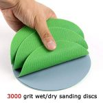 Maslin Lot de 30 disques abrasifs à crochet et boucle pour ponçage à sec et mouillé/sec de la marque Maslin image 3 produit