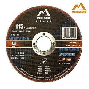 Merryland 115 X 1,0/1,6/3,0/6,0 Expert-line Disque à Tronçonner/Ébarber Acier Inoxydable Métal 25PCS/10PCS de la marque Merryland image 0 produit