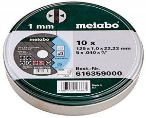 Metabo - Boite métal de 10 Disques à tronçonner - Acier inoxydable - 125 x 1 mm (Import Allemagne) de la marque Metabo image 0 produit
