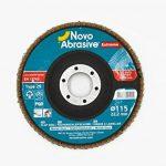 NOVOABRASIVE Lot de 10 Disques 115mm, Grain 60 de ponçage à lamelles en inox, disques de ponçage à stries de la marque NOVOABRASIVE image 1 produit