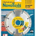 Novotools Lames Diamant 115 mm, 125 mm, 230 mm, 300 mm – disque à tronçonner pour pierre, Brique, béton (Lot de 3, 115mm) de la marque NOVOTOOLS image 1 produit