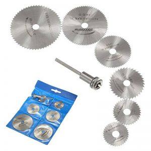 Origlam - 6 lames pour scie circulaire - Disques de coupe - Coupe de bois - Outil rotatif pour perceuses Dremel - Mandrin rotatif de la marque OriGlam image 0 produit