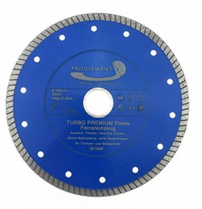 PRODIAMANT Qualité Professionnelle Disque à tronçonner diamant Tuile 180 x 22,2 mm, PDX83.933 180mm de la marque PRODIAMANT image 0 produit