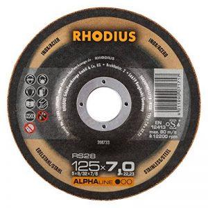 Rhodius RS28125x 7, 0X 22, 23mm 5pièces Acier inoxydable Acier Disque à ébarber RS28125x 7, 0X 22, 23mm pour meuleuse d'angle Disque abrasif, 200W 240V de la marque Rhodius image 0 produit