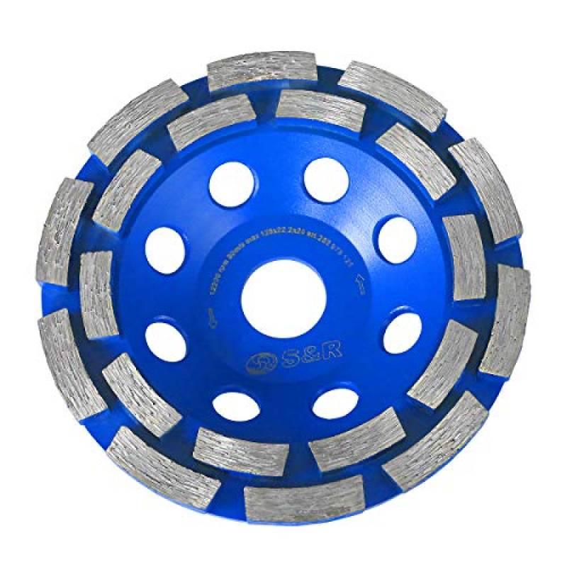 meule abrasive /à poncer b/éton 125mm, noir Disque diamant 125-180mm /à meuler le b/éton pierre 2 rang/ées diamant/és granit
