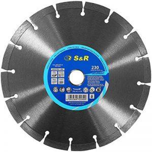 S&R Disque Diamant 230 mm. Disque à tronçonner 230 x 22,2 x 10 Standard 2,6 mm pour Béton, Béton armé, Granit, Pierre naturelle, Brique de la marque S-R image 0 produit