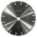 S&R Disque Diamant 230 mm. Disque à tronçonner 230 x 22,2 x 10 Standard 2,6 mm pour Béton, Béton armé, Granit, Pierre naturelle, Brique de la marque S-R image 1 produit