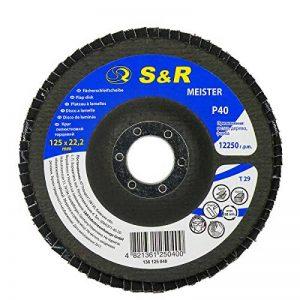 S&R Disque à Lamelles 125 Grain 40. Lot de 5 Disques Abrasifs à Lamelle pour Meuleuse d'Angle de la marque S-R image 0 produit