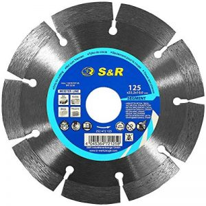 S&R Disque à tronçonner diamant 125 x 22,2 x 10 2,2 mm Segment Standard pour Béton Granit Pierre Brique de la marque S-R image 0 produit