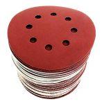 S&R Disques Abrasifs 125 mm - 60 Disque de Ponçage: 10 * P40, 10 * P60, 10 * P80, 10 * P120, 10 * P180, 10 * P240, 8 trous, pour poncer et polir avec ponceuses excentrique de la marque S-R image 4 produit