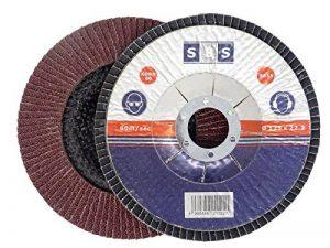 SBS Disques abrasifs à lamelles | Ø 115mm|Grain 40à 120|Lot de 10|Marron & Bleu Inox Métal & Bois Meuleuse d'angle roue de ponçage, Braun Korn 80, 0 de la marque SBS image 0 produit