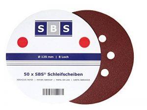 SBS Disques de Meulage de Velcro ø 125 mm Divers Agrégats au choix 50 Pièce - Marron, 120 de la marque SBS image 0 produit