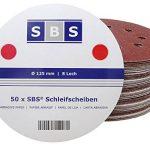 SBS Disques de Meulage de Velcro ø 125 mm Divers Agrégats au choix 50 Pièce - Marron, 120 de la marque SBS image 1 produit