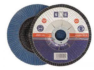 SBS disques à lamelles 10 pièces, diamètre 125 mm, bleu ou marron, pour meulage, alésage MOP, bleu de la marque SBS image 0 produit