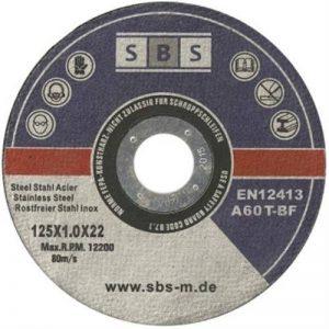 SBS Lot de 50disques en acier inoxydable 125x 1,0mm de la marque SBS image 0 produit