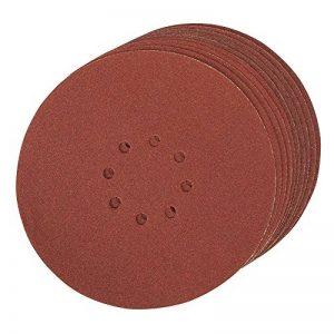 Silverline 272756 Lot de 10 Disques abrasifs perforés auto-agrippant 225 mm Grain 80 de la marque Silverline image 0 produit