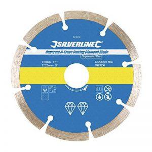 Silverline 394979 Lame diamantée à tronçonner le béton et la pierre 115 x 22,2 mm de la marque Silverline image 0 produit