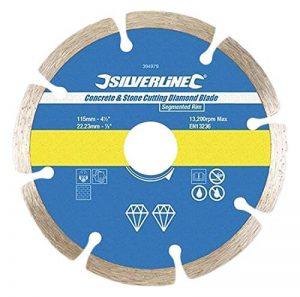 Silverline 633624 Lame diamantée à tronçonner le béton et la pierre 125 x 22,3 mm de la marque Silverline image 0 produit