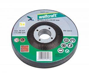 Wolfcraft 1621300 Disques tronçonneuse Diamètre 115 x 2,5 mm Lot de 5 de la marque Wolfcraft image 0 produit