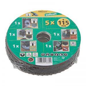 Wolfcraft 1663000 Kit découverte de 5 Disques pour meuleuses ø 115 mm de la marque Wolfcraft image 0 produit
