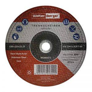 Woltersberger Lot de 5 disques à tronçonner | Ø 230 mm | Pour tous types de meuleuse d'angle et de séparation | Disques flexibles en acier inoxydable extra fins de la marque Woltersberger image 0 produit