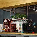 XHRACK Porte-Verre À Vin, Porte-gobelet Inversé, Étagère Porte-Bouteilles De Vin, Porte-gobelet À Suspendre, pour Home Bar, Noir, Bronze (Couleur : Métalliques, Taille : 80cm) de la marque XHRACK image 1 produit