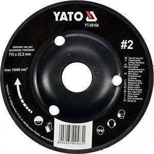Yato Disque râpe professionnelle pour meuleuse d'angle Sélection Disque 115mm disque abrasif 125mm Bois Bois Flex Artisanat (115mm bois nr 1) de la marque Yato image 0 produit